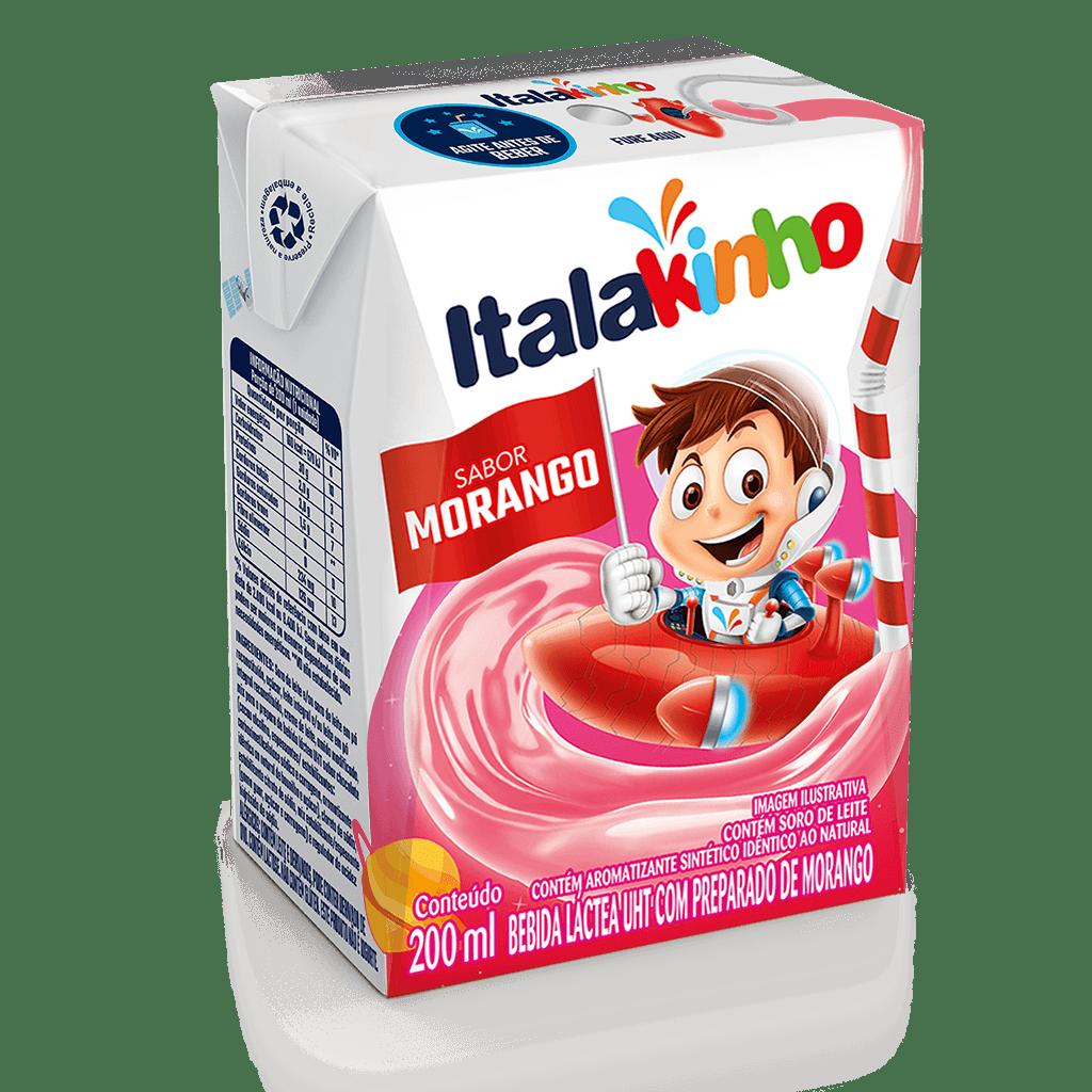 Bebida Láctea UHT Sabor Morango 200ml Italakinho